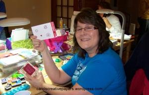 Terri with Christmas Card